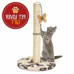 Cat Scratching Post with Hanging Butterfly Toy, Fast Ship