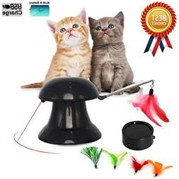 FIRIK Cat Toys 2 in 1 Automatic Rotating Light Interactive F