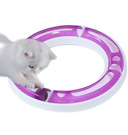 CEESC Cat Track Ball Toy Set, Puzzle Games and Race Track, F