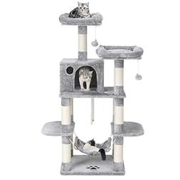 """SONGMICS 59"""" Multi-Level Cat Tree with Sisal-Covered Scratch"""