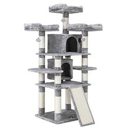 """SONGMICS 67"""" Cat Tree Condo with Scratching Post Pad Cat Tow"""
