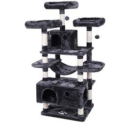 BEWISHOME Large Cat Tree Condo with Sisal Scratching Posts P