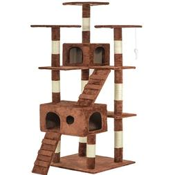 """Cat Tree For Large Cats 72"""" Scratching Post Furniture Climbi"""