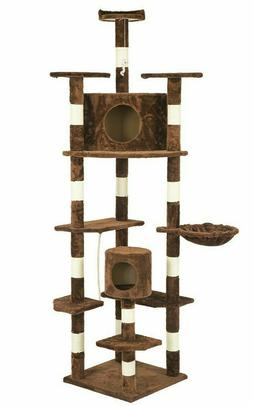 "Cat Tree For Large Cats 80"" Scratching Post Furniture Climbi"
