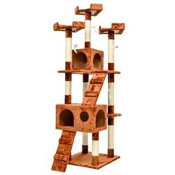 """Cat Tree House Furniture Condo 66"""" Pet Play Tower Scratching"""