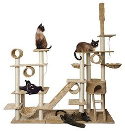 """Paws & Pals 76""""x20""""x96"""" Cat Tree House w/Scartching Post Tow"""
