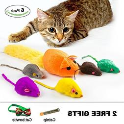 abobo Catnip Toys - Cat Toy with Rattle - Mouse with Catnip