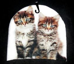 CATS KITTENS BEANIE HAT CAP ONE SIZE