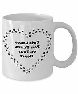 Cats Leave Paw Print On Your Heart Sentiment Novelty Gift Mu