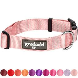 Blueberry Pet 32 Colors Classic Dog Collar, Baby Pink, Small