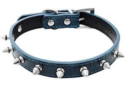 Classic Pet Dog PU Leather Collar Spike Rivets Studded Dog C
