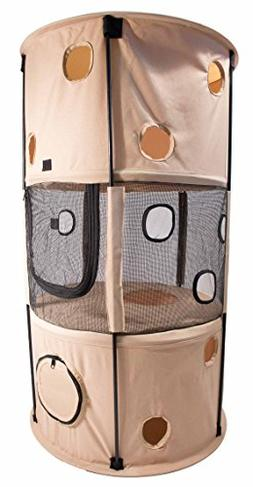 Pet Life Climber-Tree' Play-Active Travel Collapsible Lightw