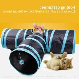 AroPaw Collapsible Cat Tunnel Tube Interactive Indoor Cats P
