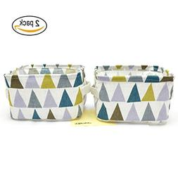 JIALEEY Collapsible Storage Bin Basket, 2 Pack Canvas Fabric