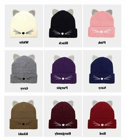 Crystal Embellished Cat Ears Beanie Hat /// 2 for 32 /// Sty