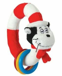 Dr. Seuss Cat in The Hat Take Shake Ring Rattle Teething Rin