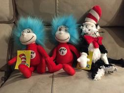 Dr. Seuss Set | Cat in the Hat, Thing 1, & Thing 2 Soft Toy