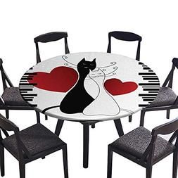 Easy-Care Cloth Tablecloth Cats in Love Romantic Kittens Pet