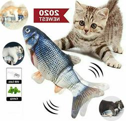 Electric Cat Wagging Fish Toy for Cats Biting Chewing and Ki