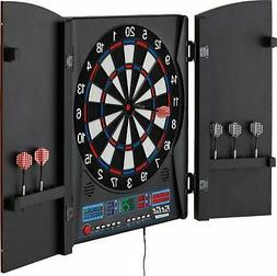 Fat Cat Electronx Electronic Dartboard Built In Cabinet Solo