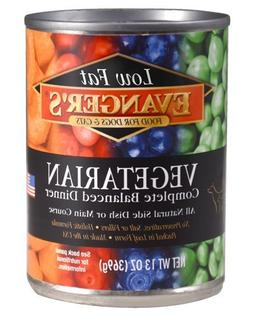 Evanger's Low Fat Vegetarian Dinner Canned Dog & Cat Wet Foo