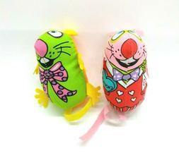 FatCat Fun Silly Mouse Chew Catnip Toy for Cats - Set of 2