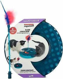 Petstages Feather Chaser Track - Cat Ball Chaser Track and F