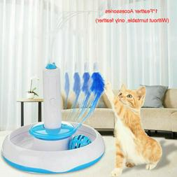 Feather Teaser Cat Toy Multifunction Electric Interactive Ro