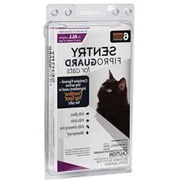 SENTRY Fiproguard Flea and Tick Topical for Cats, 1.5 lbs an