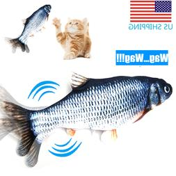 Fish Toy For Cat Realistic Plush Simulation Electric Motion
