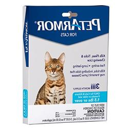 PETARMOR Flea & Tick Treatment for Cats with Fipronil , 3 Mo