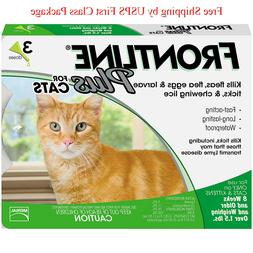 Frontline Plus For Cats 3 Doses / 3 Month Supply Flea & Tick