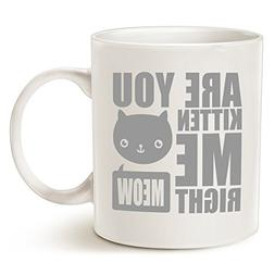MAUAG Father's Day and Mother's Day Gifts Funny Cat Coffee M