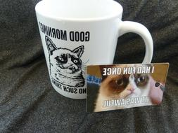 Good Morning? No Such Thing. Grumpy Cat Coffee Mug / Cup Whi