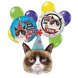 Grumpy Cat 9 pc Birthday Balloon Bouquet