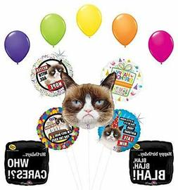 Grumpy Cat Birthday Party Supplies Who Cares Balloon Bouquet