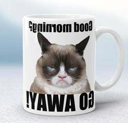 Grumpy Cat Good Morning Go Away Rude Funny Coffee Tea Mug No