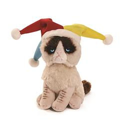 GUND Grumpy Cat Jester Beanbag Stuffed Animal Plush, 5""