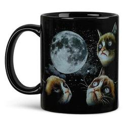 Grumpy Cat Moon Heat Sensitive Color Changing Coffee Mug