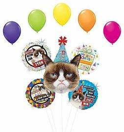 Grumpy Cat Party Face Birthday Party Supplies Balloon Bouque
