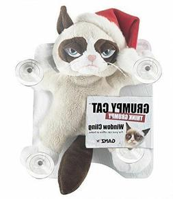 Ganz Grumpy Cat Window Cling with Santa Christmas Hat NEW w