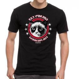 Grumpy Cat Grumpy For President Men's Black T-shirt NEW Size
