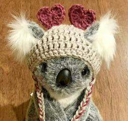 Handmade New Pet Costume Beanie Hat/Cap Hearts For Cats & Sm