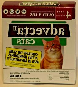 Advecta II Flea& Tick for CATS over 9 lbs 4 month supply. Br