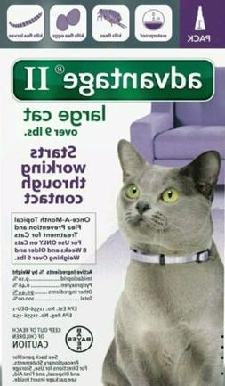 Advantage II for Large Cats Over 9 Lbs. Flea Treatment 1 Mon