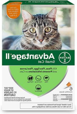 Advantage II for Small Cats 5-9 lbs, 6 Pack - EPA Approved /