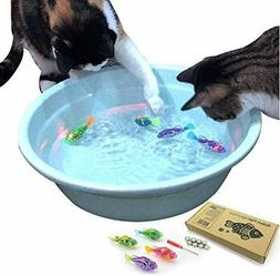 interactive swimming robot fish toy for cat