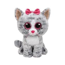 Ty Kiki Cat Plush, Grey, Medium