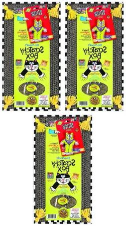 Fat Cat Kitty Hoots Big Mamas Scratchy Box Double Wide 3pk