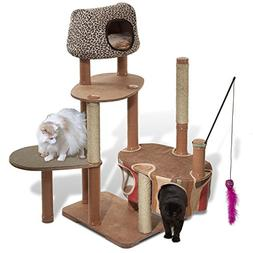 Solvit Kittyscape Cat Tree House Extra Large Cat Tower With